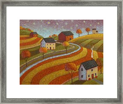 Autumn Farmland Framed Print by Mary Charles