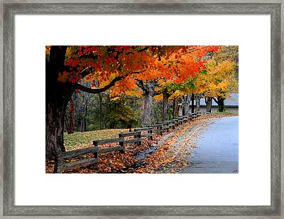 Autumn Fence Framed Print by Gary Bydlo