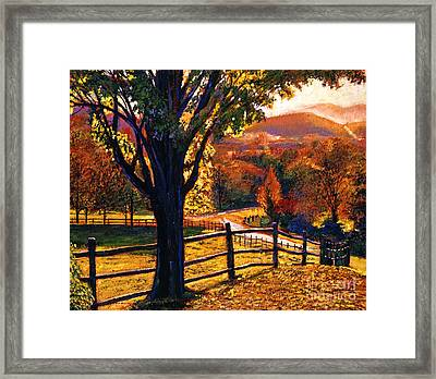 Autumn Fire Framed Print by David Lloyd Glover