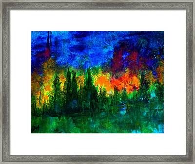 Autumn Fires Framed Print