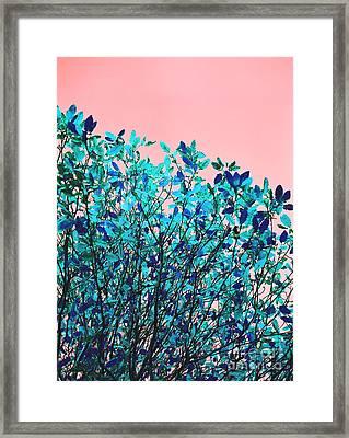 Framed Print featuring the photograph Autumn Flames - Peach by Rebecca Harman
