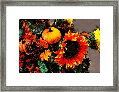Autumn Flowers Framed Print