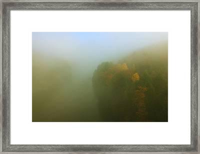 Autumn Fog French King Gorge Framed Print by John Burk