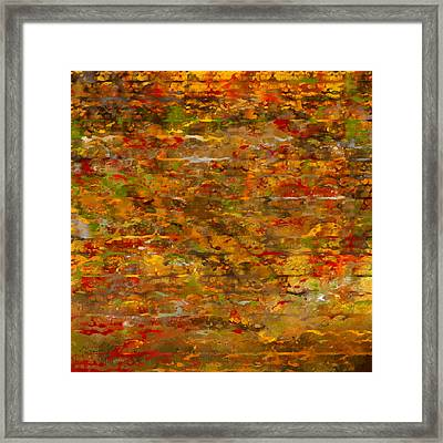 Autumn Foliage Abstract Framed Print