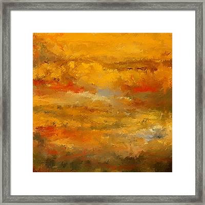 Autumn Foliage Impressions Framed Print