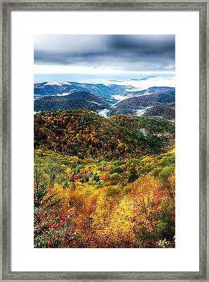 Autumn Foliage On Blue Ridge Parkway Near Maggie Valley North Ca Framed Print