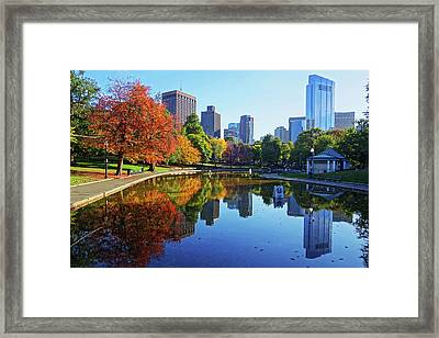Autumn Foliage On The Boston Common Frog Pond Framed Print by Toby McGuire