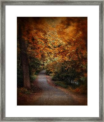 Autumn Follows Framed Print by Jessica Jenney