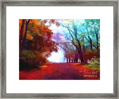 Autumn Forest Framed Print by Melanie D