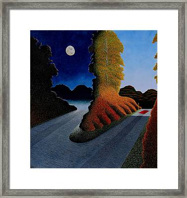 Autumn Fork Framed Print by Adrian Jones