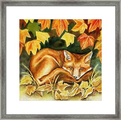 Autumn Fox Framed Print by Antony Galbraith