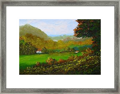 Autumn Framed Print by Fred Wilson