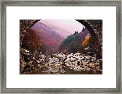 Autumn Gate Framed Print by Evgeni Dinev