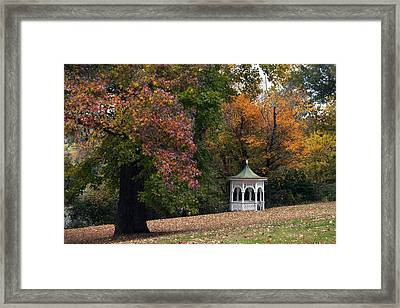Autumn Gazebo Framed Print by Elsa Marie Santoro