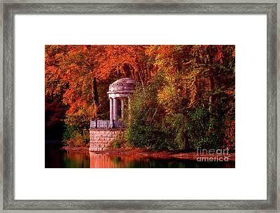 Autumn Gazebo Framed Print