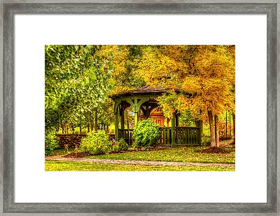 Autumn Gazebo Framed Print by TL  Mair