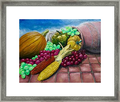 Framed Print featuring the painting Autumn by Geni Gorani