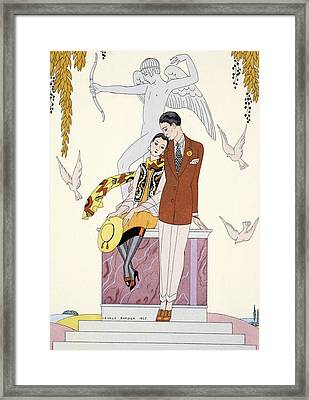 Autumn Framed Print by Georges Barbier