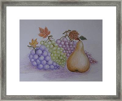 Autumn Gifts Framed Print by Georgeta  Blanaru