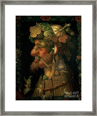 Autumn Framed Print by Giuseppe Arcimboldo