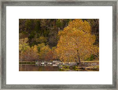 Framed Print featuring the photograph Autumn Glory In Beaver's Bend by Tamyra Ayles