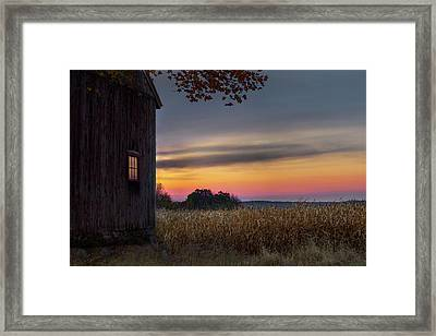 Framed Print featuring the photograph Autumn Glow by Bill Wakeley