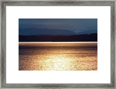 Autumn Glow Framed Print by Julia Hiebaum