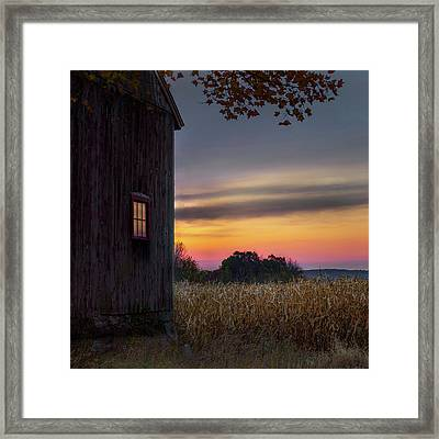 Framed Print featuring the photograph Autumn Glow Square by Bill Wakeley