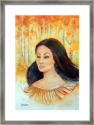 Autumn Goddess Framed Print