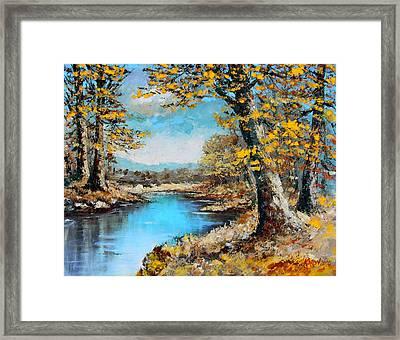 Autumn Gold Framed Print by Karon Melillo DeVega