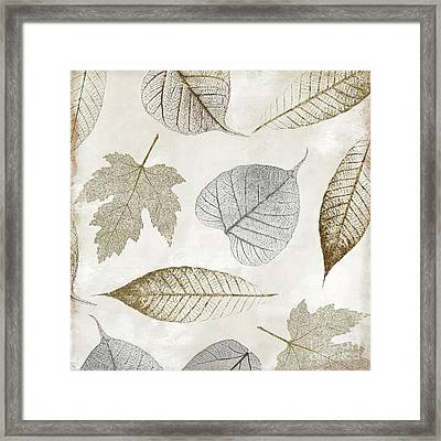 Autumn Gold Leaf Pattern II Framed Print