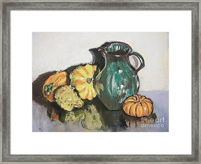 Autumn Gourds Framed Print by Mary Capriole