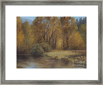 Autumn Grazing Framed Print by Lori McNee