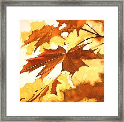 Framed Print featuring the painting Autumn Greeting by Rachel Hames