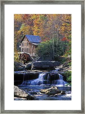 Autumn Grist Mill - Fs000141 Framed Print