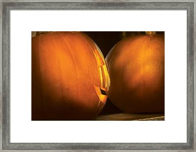 Autumn - Halloween -  Smile If Your Happy Framed Print by Mike Savad