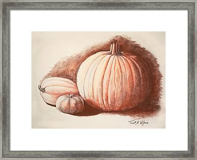 Autumn Harvest Drawing Framed Print by Frank Wilson