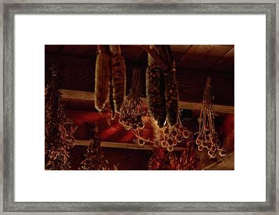 Autumn Harvest Drying Framed Print