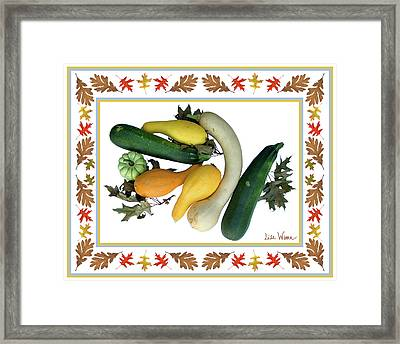 Framed Print featuring the digital art Autumn Harvest by Lise Winne