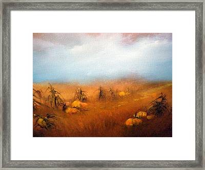 Autumn Harvest Framed Print by Sally Seago