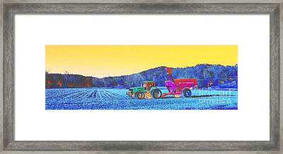Autumn Harvest Southern Indiana Framed Print by Scott D Van Osdol