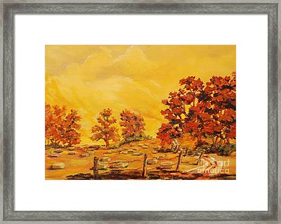 Autumn Haying Framed Print