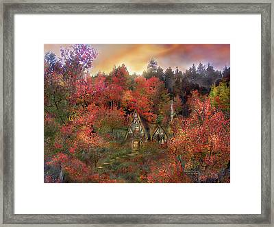 Autumn Hideaway Framed Print by Carol Cavalaris