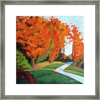 Autumn Hill Framed Print