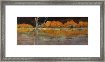 Framed Print featuring the painting Autumn Hills by Kim Fournier