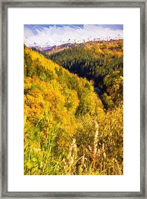 Autumn Hills Painterly Framed Print