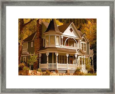 Autumn House Framed Print by David Lee Thompson