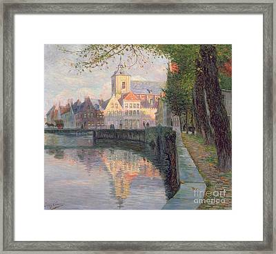 Autumn In Bruges Framed Print by Omer Coppens