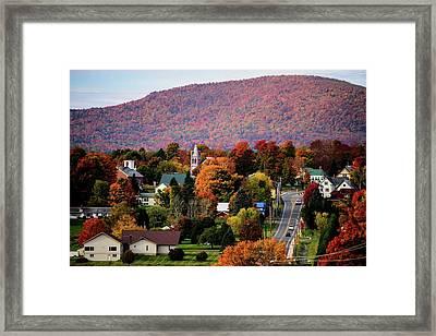 Autumn In Danville Vermont Framed Print