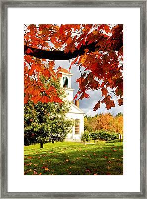 Autumn In Gilmanton Framed Print